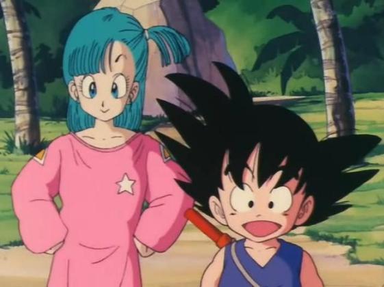 Goku_and_Bulma_watching_the_turtle_in_the_ocean
